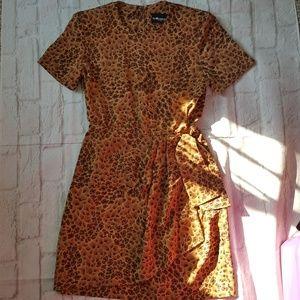 Sag Harbor Animal Leopard Print Dress